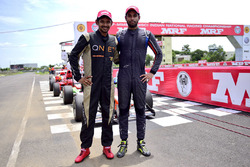 Race winner Anindith Reddy, third place Chetan Korada