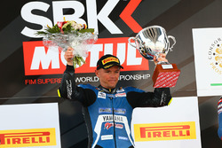 Sheridan Morais, Kallio Racing Yamaha, fête sa victoire sur le podium