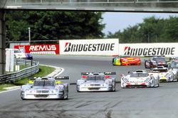 #1 AMG Mercedes-Benz CLK-LM: Bernd Schneider, Mark Webber, #2 AMG Mercedes-Benz CLK-LM: Klaus Ludwig, Ricardo Zonta