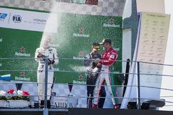 Podium: second place Sergio Sette Camara, MP Motorsport, Race winner Luca Ghiotto, RUSSIAN TIME, third place Antonio Fuoco, PREMA Powerteam