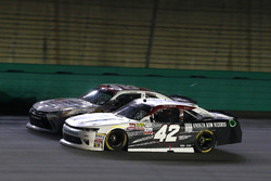 Tyler Reddick, Chip Ganassi Racing Chevrolet and Kyle Benjamin, Joe Gibbs Racing Toyota