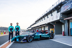 Luca Filippi, NIO Formula E Team and Oliver Turvey, NIO Formula E Team, unveil new livery