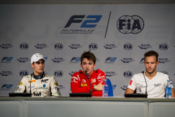 Прес-конференція: Сержіу Сетте Камара (MP Motorsport), Шарль Леклер (Prema) та Лука Гіотто (Russian Time)