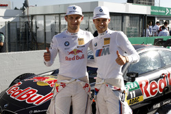 Marco Wittmann, BMW Team RMG, BMW M4 DTM with the Polesitter Tom Blomqvist, BMW Team RBM, BMW M4 DTM