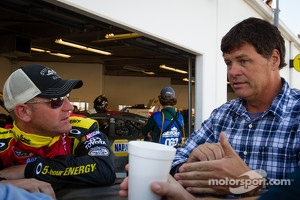 Clint Bowyer and Michael Waltrip