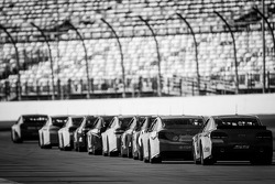 Cars wait to go on track
