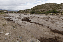 Massive amounts of mud after heavy rain