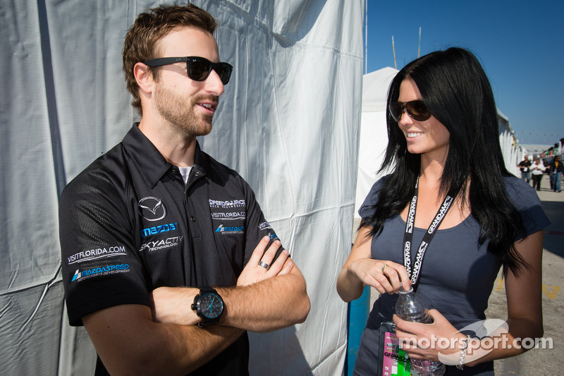 James Hinchcliffe with his girlfriend