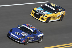 #50 Berg Racing Porsche Boxter: David Quinlan, John Weisberg and #66 Riley Racing Mazda RX-8: A.J. Riley, Jameson Riley