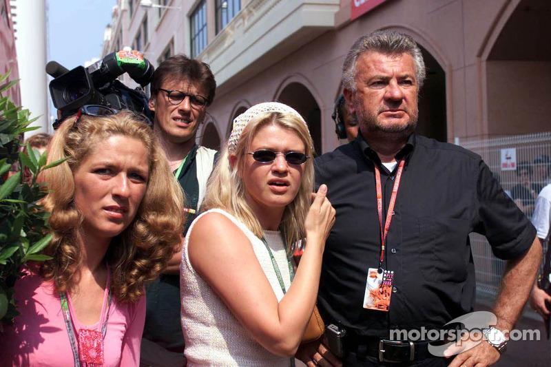 Michael Schumacher manager Willi Weber and wife Corinna Schumacher