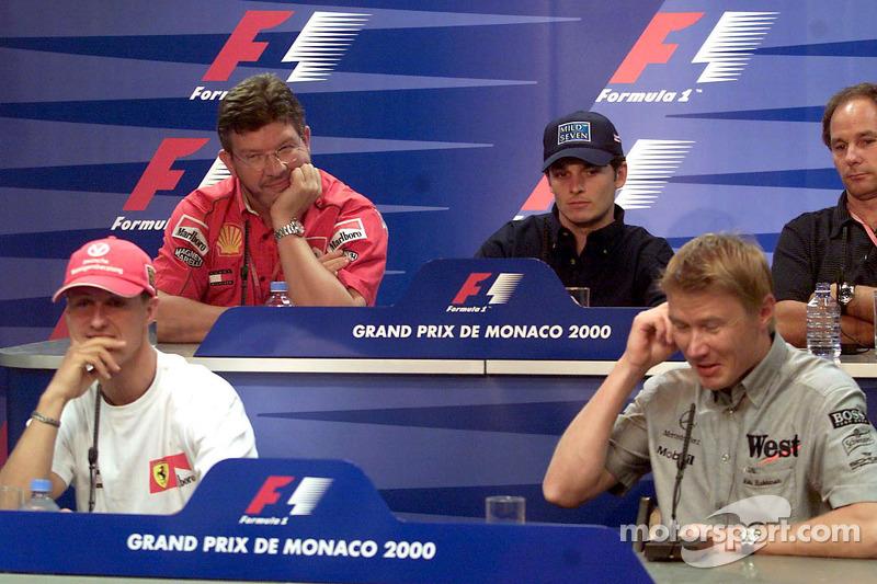 Conferencia de prensa: Michael Schumacher, Ross Brawn, Giancarlo Fisichella, Mika Hakkinen y Gerhard Berger