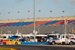 #00 Visit Florida Racing Speedsource Yellow Dragon Mazda6 GX: Joel Miller, Tristan Nunez, Spencer Pigot, Yojiro Terada, Tristan Vautier out of the race