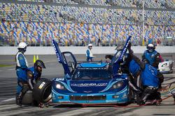 Pit stop for #90 Spirit Of Daytona Corvette DP: Antonio Garcia, Richard Westbrook, Oliver Gavin, Ricky Taylor