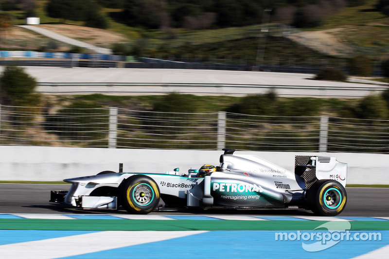 Lewis Hamilton, Mercedes AMG F1 has his first run