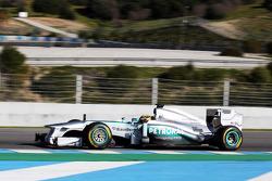 Lewis Hamilton, Mercedes AMG F1 has his first run