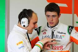 Gianpiero Lambiase, Sahara Force India F1 Engineer with Paul di Resta, Sahara Force India F1
