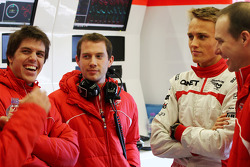 Luiz Razia, Marussia F1 Team and team mate Max Chilton, Marussia F1 Team