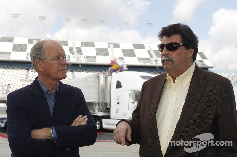 James C. France, NASCAR Vice Chairman/Executive Vice President, Mike Helton, NASCAR-President