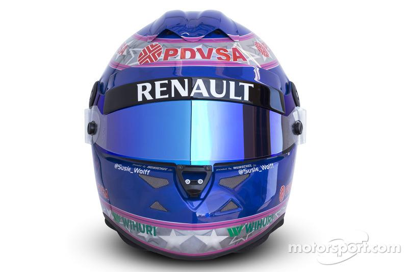 The helmet of Susie Wolff, Development Driver, Williams F1