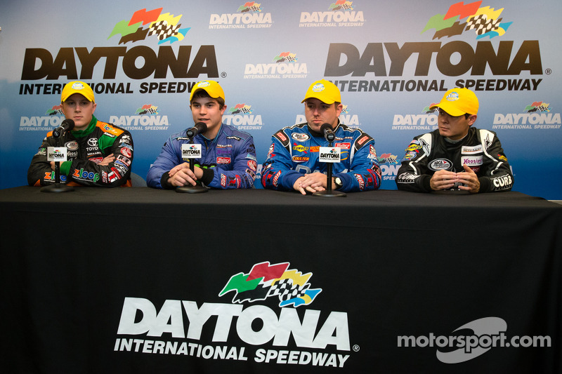 Press conference with the ARCA rookie of the year contenders