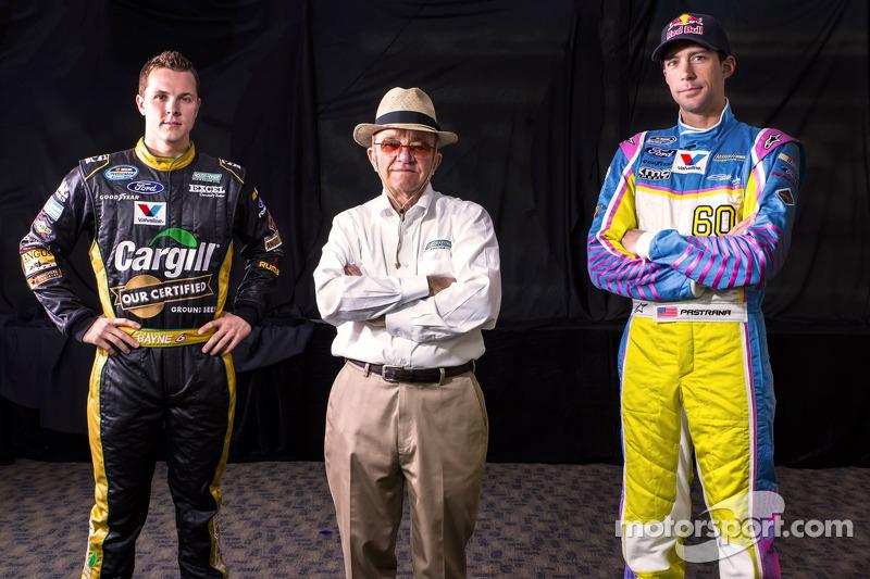 Trevor Bayne and Travis Pastrana with Jack Roush