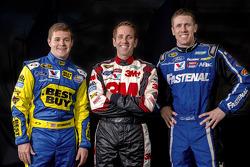 Ricky Stenhouse Jr., Greg Biffle and Carl Edwards