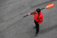 Marussia F1 Team pit stop pirulito man