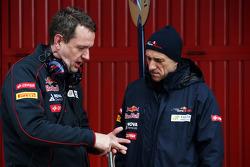Steve Nielsen, Scuderia Toro Rosso Sporting Director with Franz Tost, Scuderia Toro Rosso Team Principal