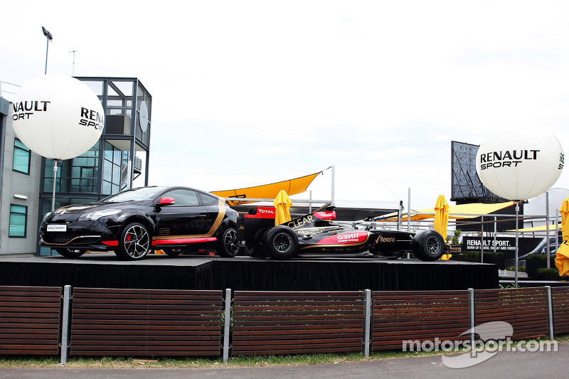 Renault Sport stand outside the paddock