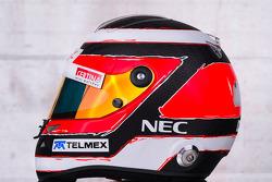 The helmet of Nico Hulkenberg, Sauber
