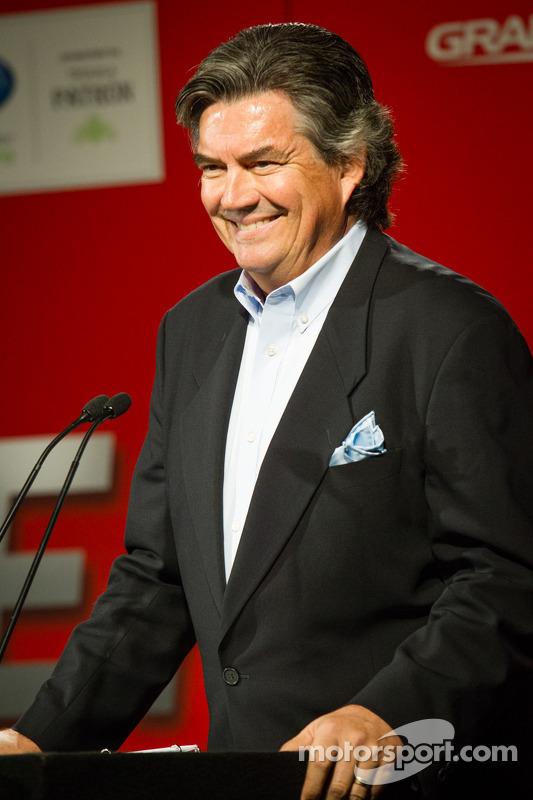 Coletiva da Sports Car Series: host Bob Varsha