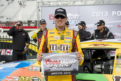 Kyle Busch, Joe Gibbs Toyota celebrates his pole