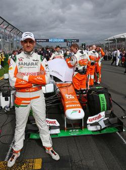 Adrian Sutil, Sahara Force India VJM06, no grid