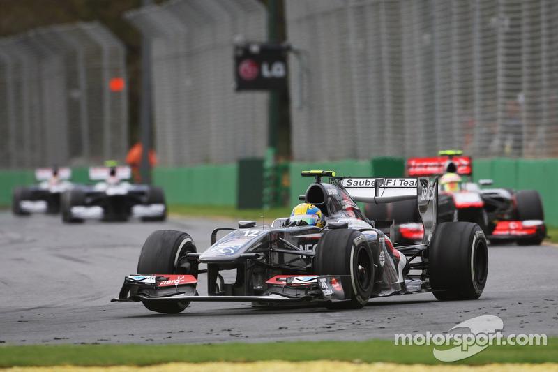 Эстебан Гутьеррес. ГП Австралии, Воскресная гонка.