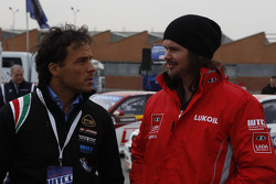 Stefano D'Aste, P.B. Racing BMW E90 320 TC and James Thompson, LADA Sport Lukoil Lada Granta