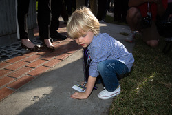 Dan Wheldon Memorial and Victory Circle unveiling ceremony: Sebastian Wheldon