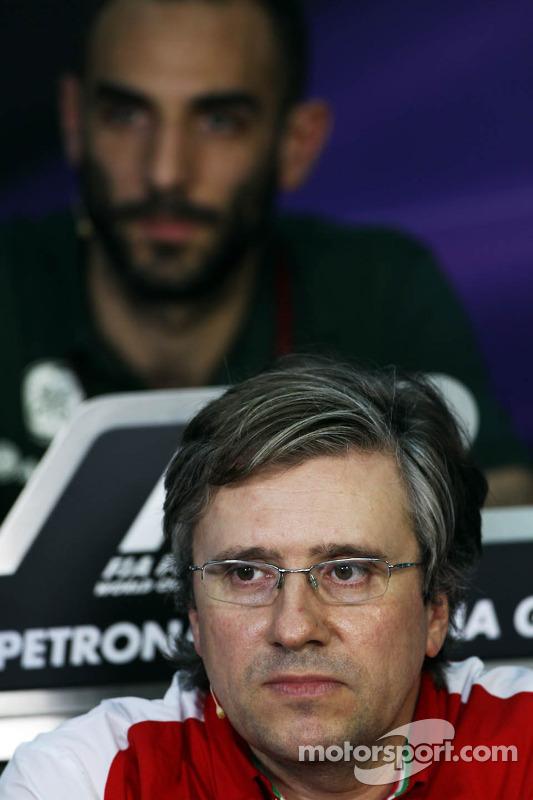 Pat Fry, Ferrari Deputy Technical Director en Head of Race Engineering bij de FIA-persconferentie