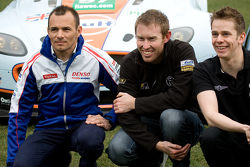 From left: Stéphane Sarrazin, John Martin and Alex Brundle