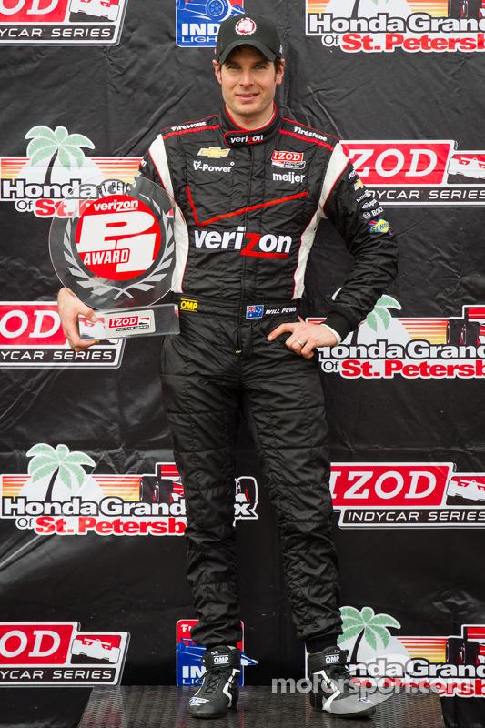 pole Will Power, Team Penske Chevrolet comemora