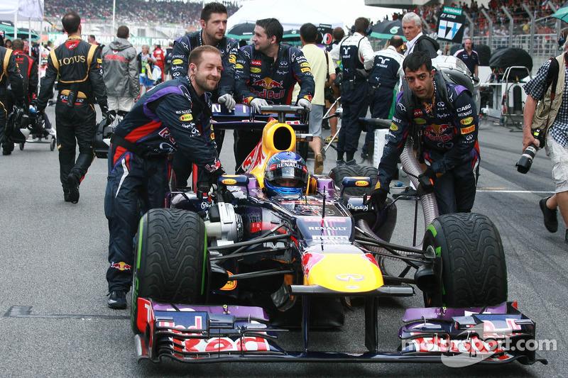 Себастьян Феттель. ГП Малайзии, Воскресенье, перед гонкой.