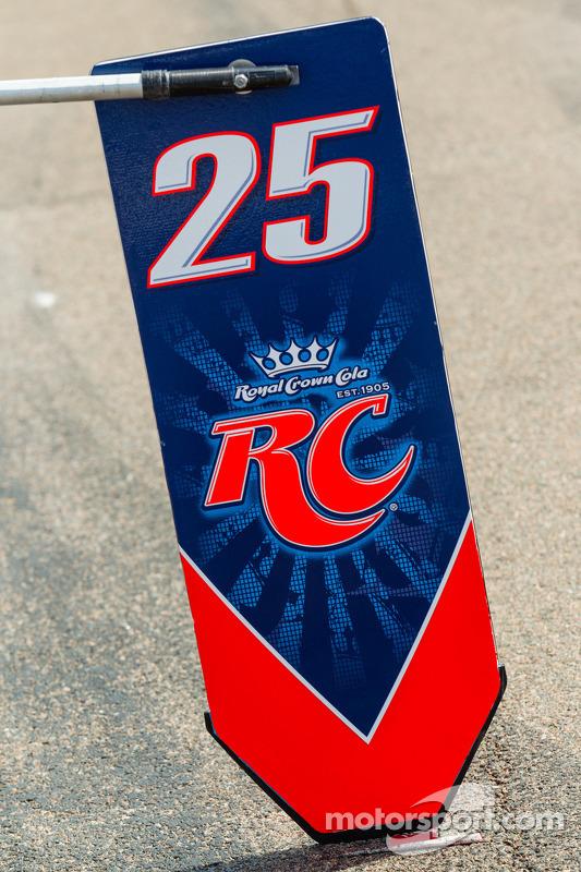 placa de pit for Marco Andretti, Andretti AutoSport Chevrolet