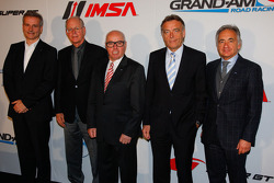 From left, Jens Marquardt, Director, BMW Motorsport, Jim France, Executive Vice President/Secretary, NASCAR, Hans Werner Aufrecht, ITR Board Member, Wolfgang Schattling, Director Motorsport Communications, Mercedes-Benz and Juergen Pippig, Executive Board