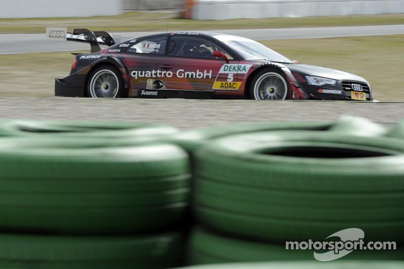 Miguel Molina, Audi Sport Team Phoenix, Audi RS 5 DTM; Mike Rockenfeller, Audi Sport Team Phoenix