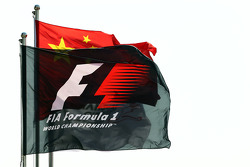 Bandeiras no GP da China