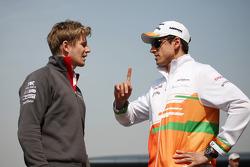 Nico Hulkenberg, Sauber with Adrian Sutil, Sahara Force India F1