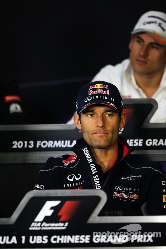 Mark Webber, Red Bull Racing na coletiva da FIA