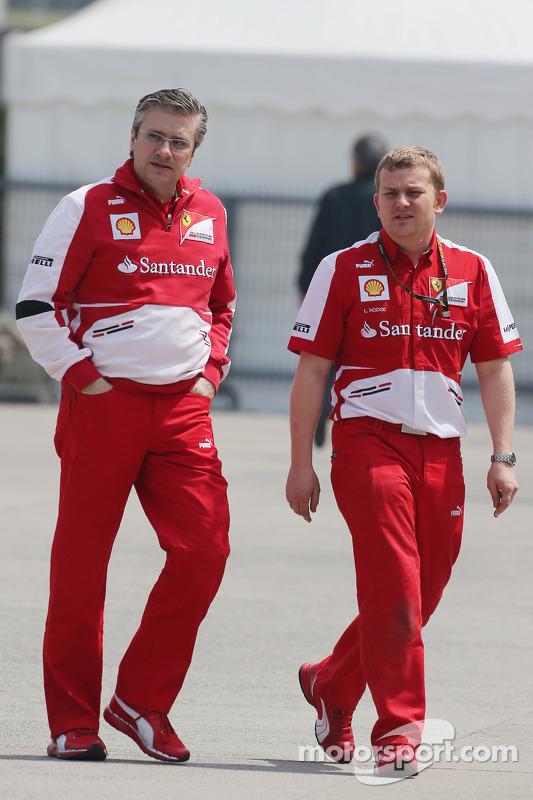 Pat Fry, Sub-diretor técnico da Ferrari e Chefe do Engenheiro de Corridaing com Lawrence Hodge, Ferarri Aerodynamics