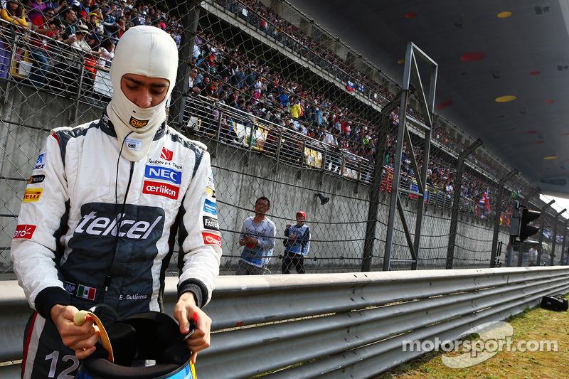 Эстебан Гутьеррес. ГП Китая, Воскресенье, перед гонкой.