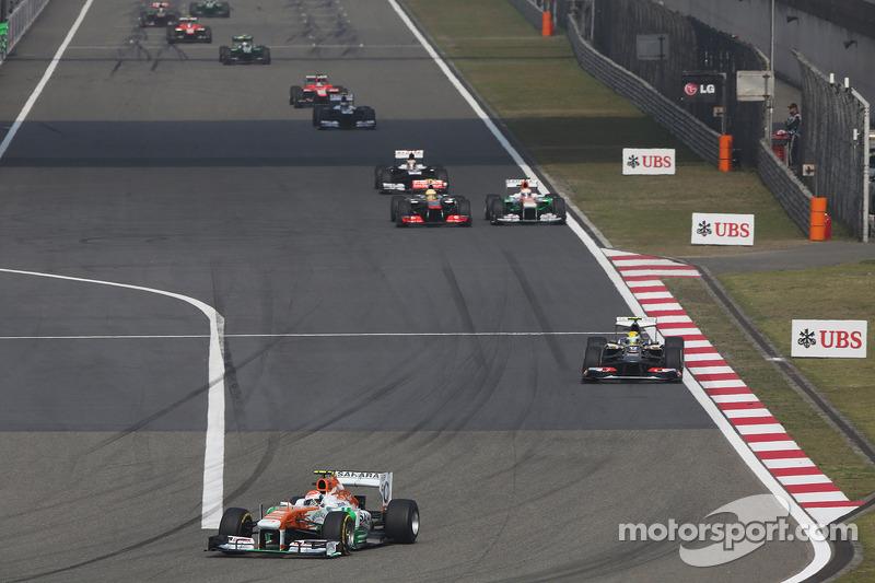 Адриан Сутиль. ГП Китая, Воскресная гонка.