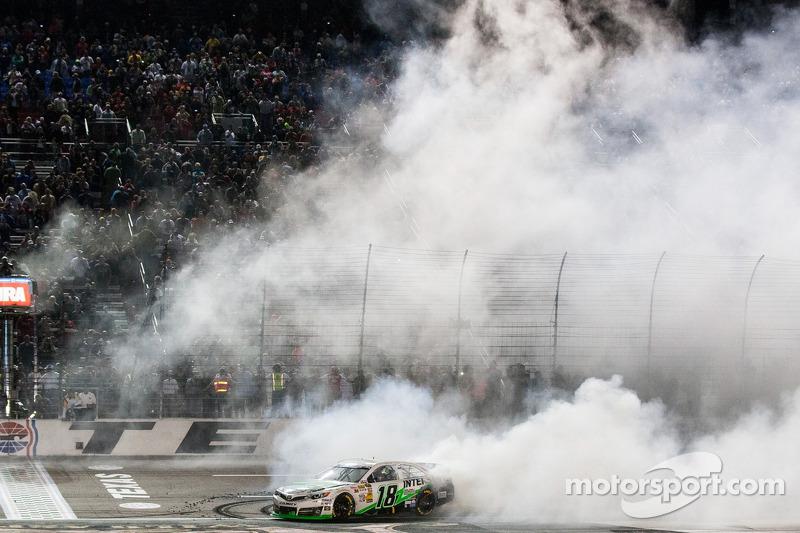 Kyle Busch, Joe Gibbs Racing Toyota celebrates